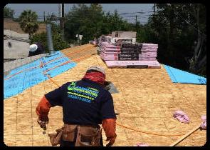 roofing contractor landmark construction crew