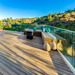 outdoor patios and living spaces