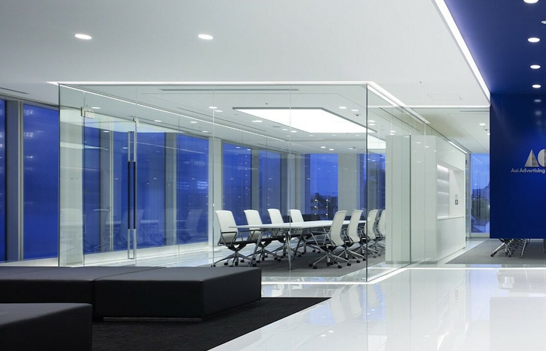 glass partitions office remodeling